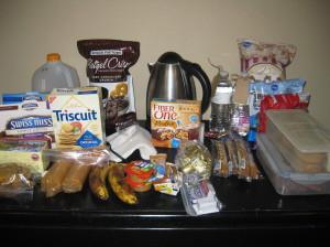 plenty of snacks and treats