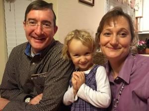 Pastor Mike, Christina, and daughter Megan
